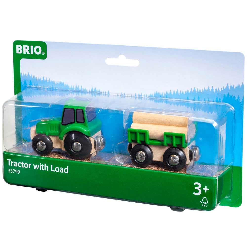 Трактор-лесовоз для железной дороги BRIO (33799) | ZABAVKA