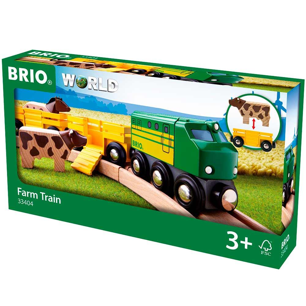 Фермерский поезд BRIO для железной дороги (33404) | ZABAVKA