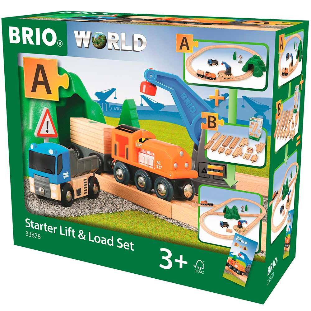 Детская железная дорога BRIO с погрузочным пунктом (33878) | ZABAVKA