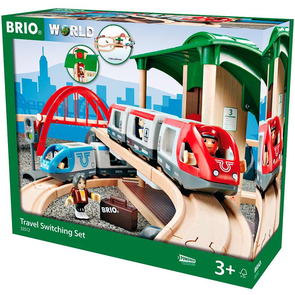 Детская железная дорога BRIO двухуровневая с вокзалом (33512) | ZABAVKA