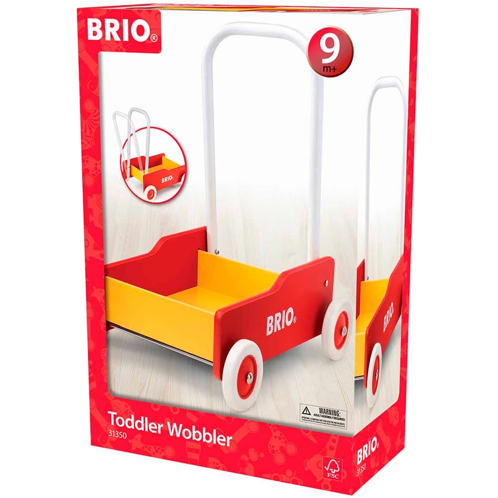 Каталка для малышей BRIO красная с желтым (31350) (примятая упаковка) | ZABAVKA