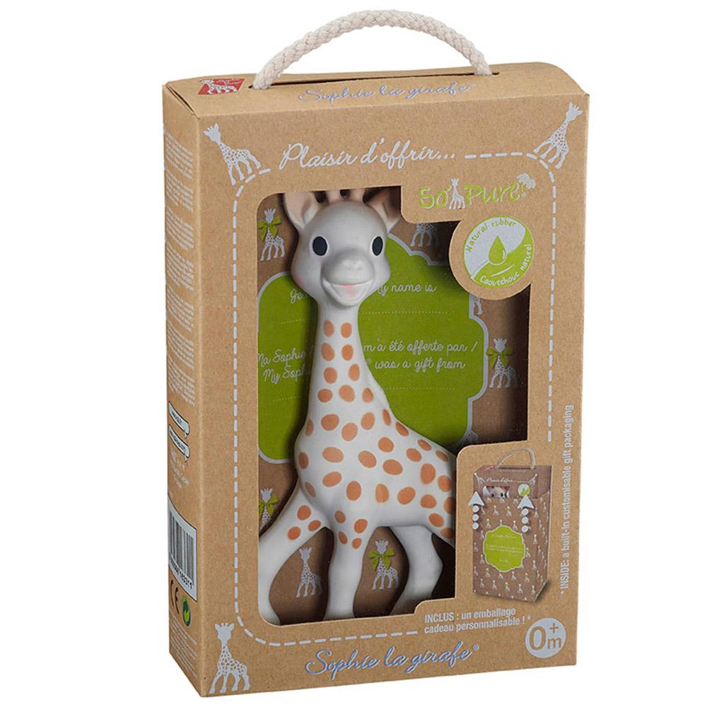 Игрушка-прорезыватель Жирафа Софи Sо Pure, Sophie la girafe (Vulli) (616331) | ZABAVKA