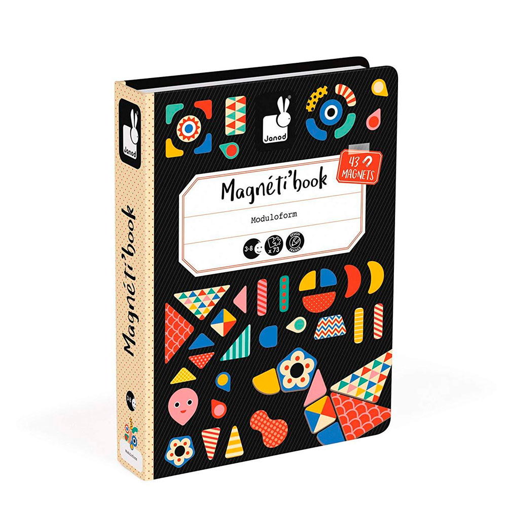 Магнитная книга Janod Формы (J02720) | ZABAVKA