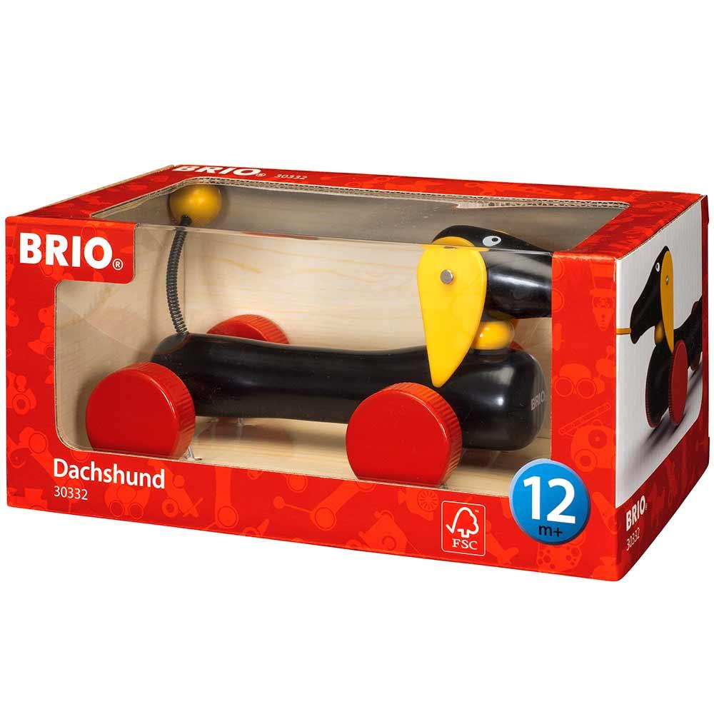 Игрушка-каталка BRIO Такса (30332) | ZABAVKA