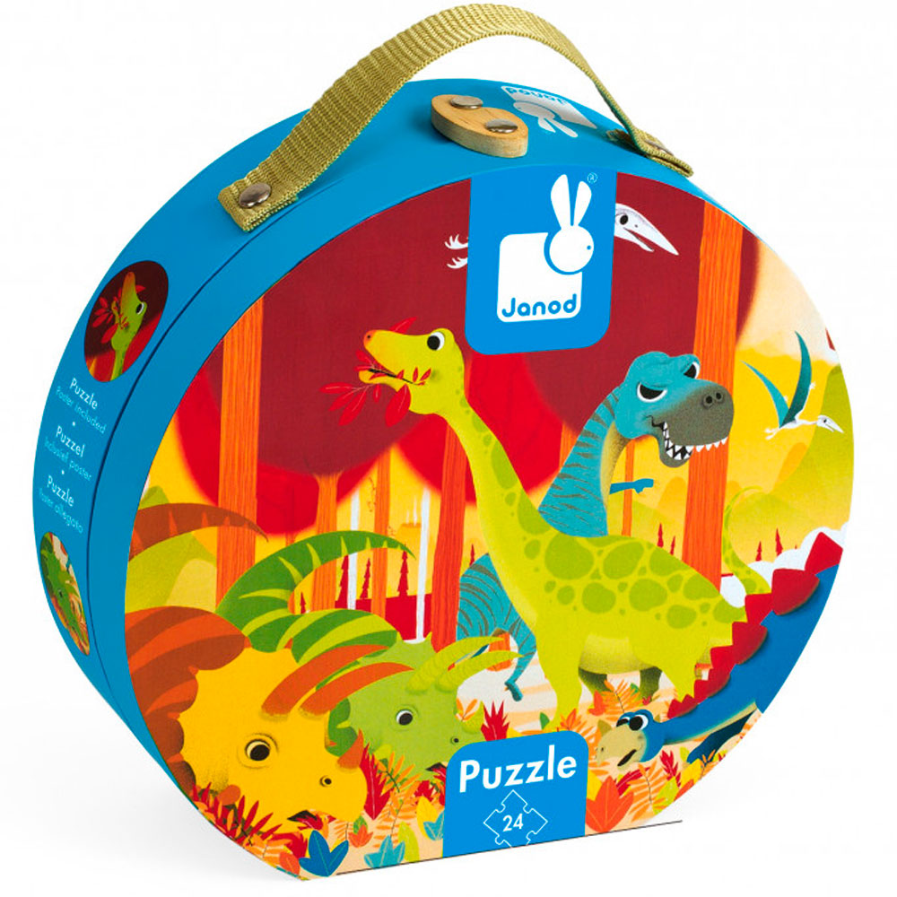 Пазл Janod Динозавры 24 эл. (J02873) | ZABAVKA