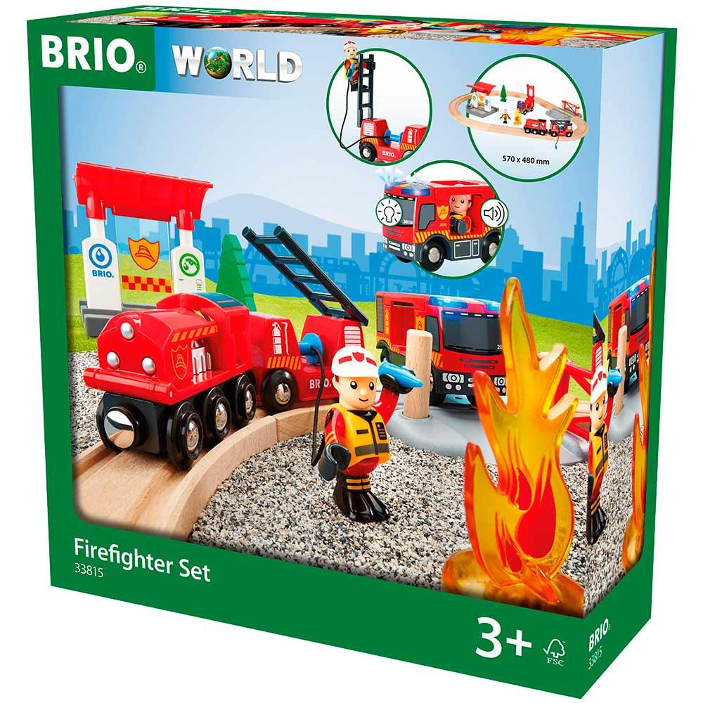 Детская железная дорога BRIO Пожарная станция (33815) | ZABAVKA