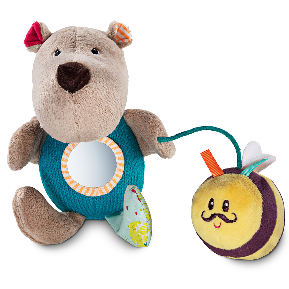 Ручная игрушка-погремушка Lilliputiens медведь Цезарь | ZABAVKA