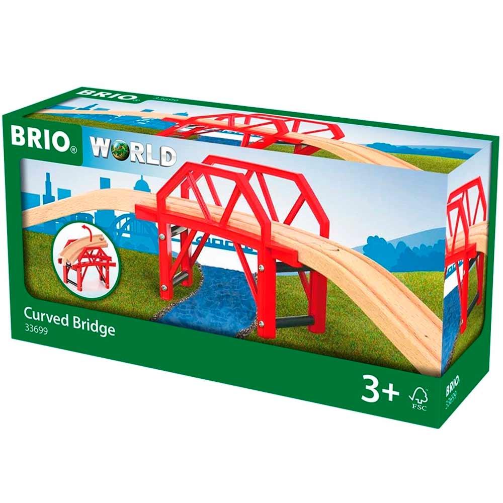 Изогнутый мост для железной дороги BRIO (33699)   ZABAVKA