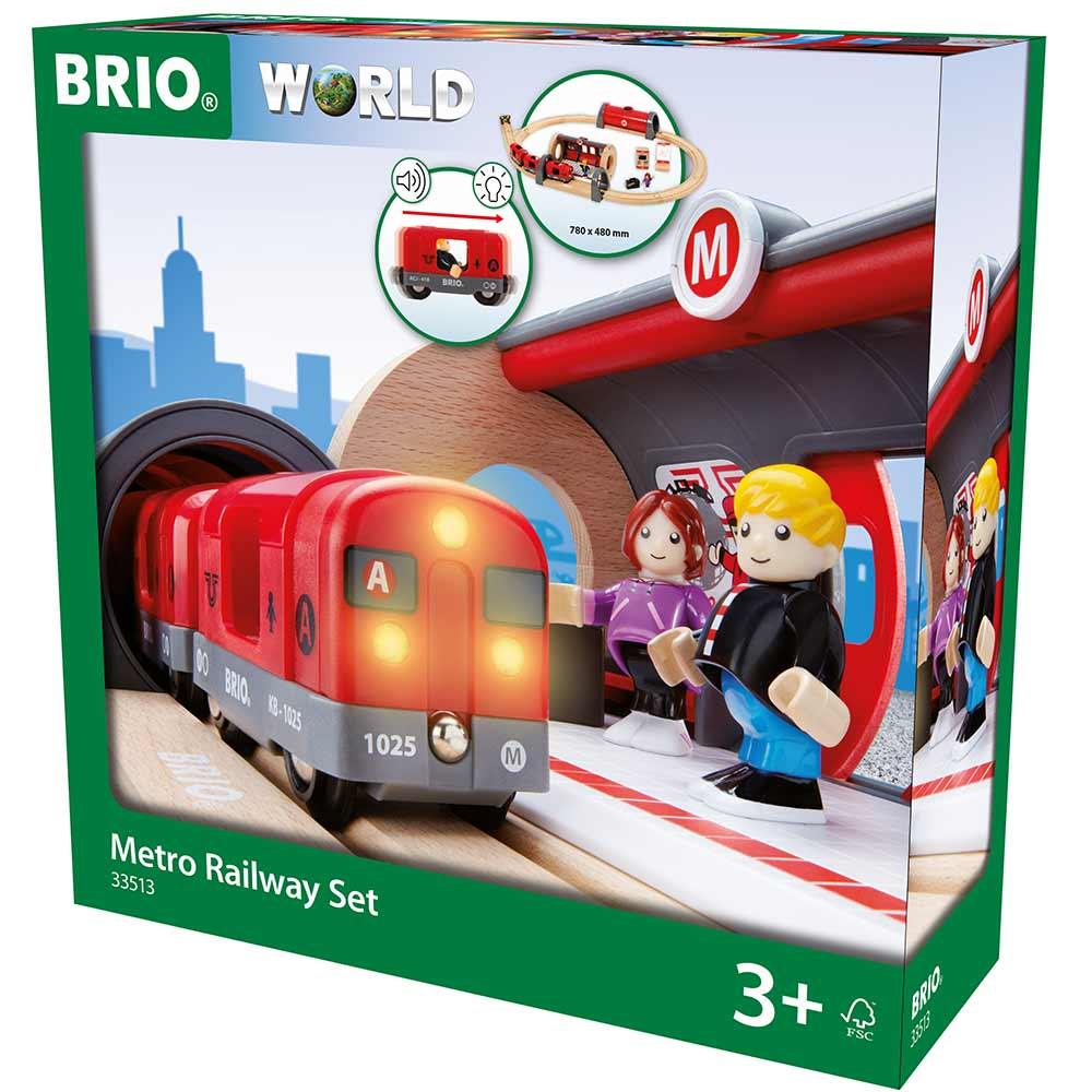 Детская железная дорога BRIO Метро (33513) | ZABAVKA