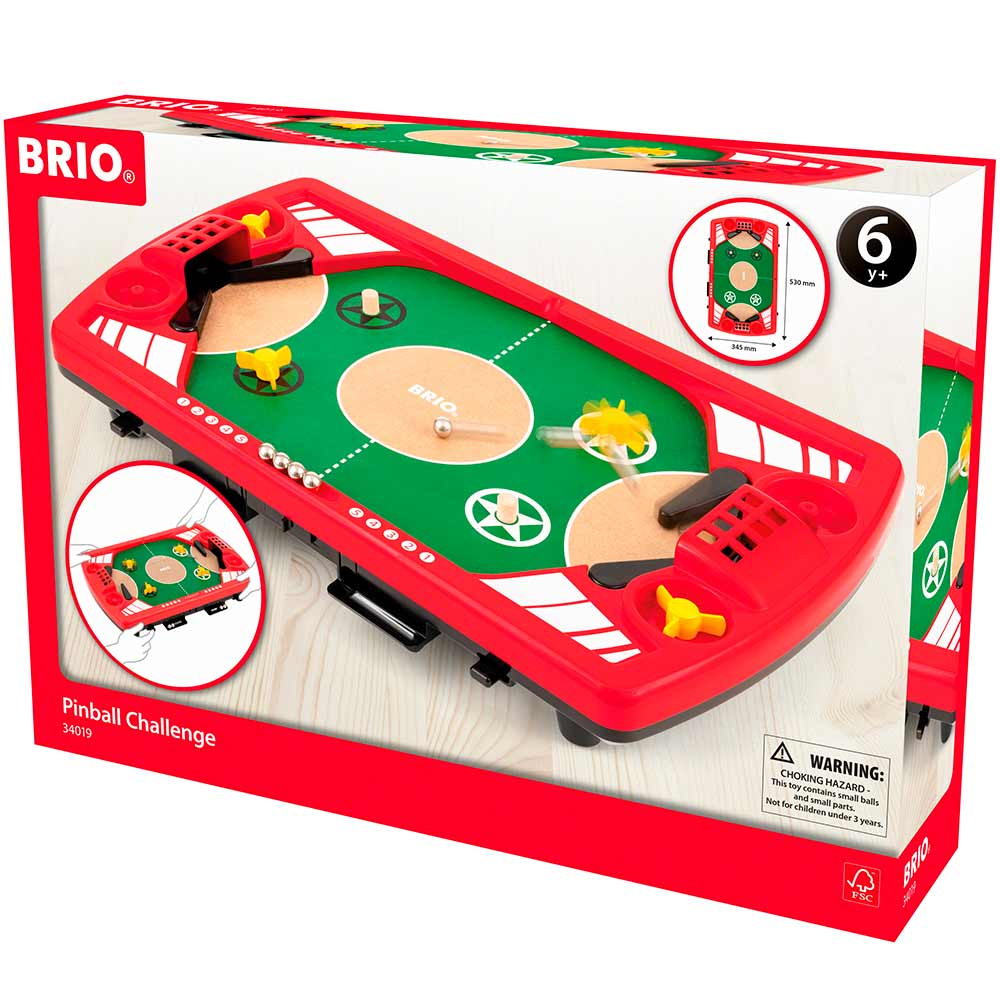 Настольная игра BRIO Пинбол на двоих (34019)   ZABAVKA