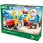 Детская железная дорога BRIO c переездом и краном (33208)